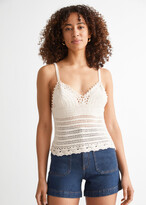 Thumbnail for your product : And other stories Crochet Knit Pearl Tank Top