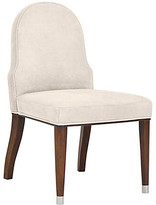 Ralph Lauren Home Carlyle Side Chair frame, medium mahogany; upholstery, moccasin; ferrules, polished nickel