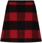 Thumbnail for your product : Ganni Check-Pattern Mini Skirt