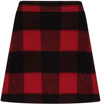 Ganni Check-Pattern Mini Skirt