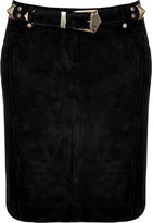 Balmain Black Suede Skirt
