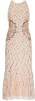 Hailey Logan Midi Beaded Cocktail Dress