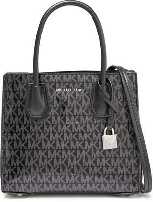 MICHAEL Michael Kors Monogram-print Faux Patent-leather Shoulder Bag