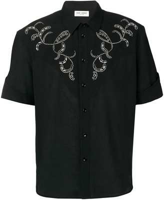 Saint Laurent Western-Style Embroidered Shirt