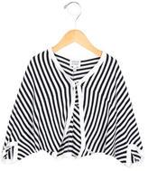 Armani Junior Girls' Striped Knit Cardigan w/ Tags