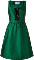 Prada embellished dress - women - Silk/Polyamide/Polyester/glass - 40