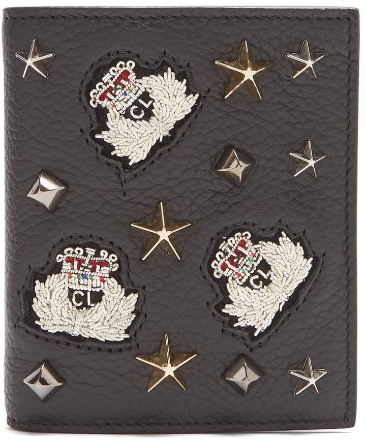 Christian Louboutin Paros embellished bi-fold leather wallet