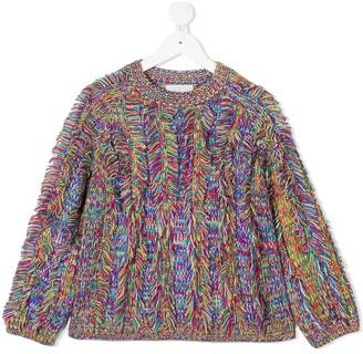 Stella McCartney Kids Rainbow Fringe Knit Jumper
