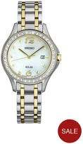 Seiko Mother Of Pearl Two Tone Stainless Steel Braclet Watch