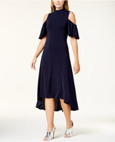 Kensie Cold-Shoulder Midi Dress