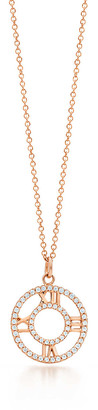 Tiffany & Co. Atlas open pendant in 18k rose gold with diamonds, small