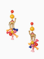 Kate Spade Spice things up camel statement earrings