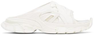 Balenciaga White Track Slide Sandals