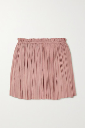 ELENA MAKRI Antigone Draped Silk-tulle Mini Skirt - Neutral