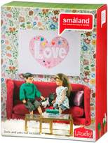 Lundby Smaland Red Living Room Set