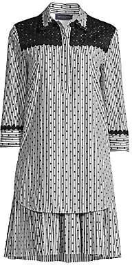 Piazza Sempione Women's Polka-Dot & Stripes Shirtdress