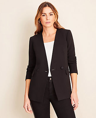 Ann Taylor Tall Doubleweave Collarless Jacket
