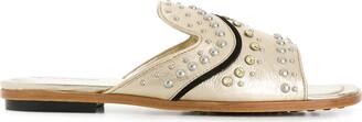 Tod's Stud-Embellished Slide Sandals