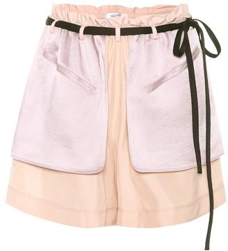 Valentino Crepe and satin shorts
