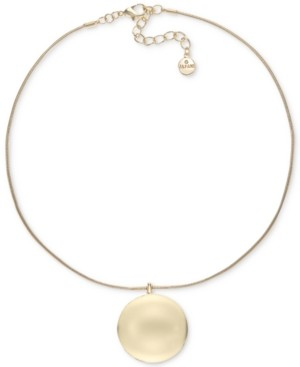 """Alfani Gold-Tone Orb Pendant Necklace, 17"""" + 2"""" extender, Created for Macy's"""