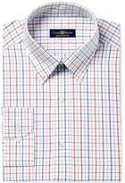 Club Room Men's Big and Tall Regular Fit Triple Tattersall Dress Shirt, Created for Macy's
