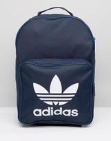 adidas Trefoil Logo Backpack In Navy