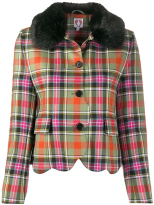 Shrimps Check Fitted Jacket