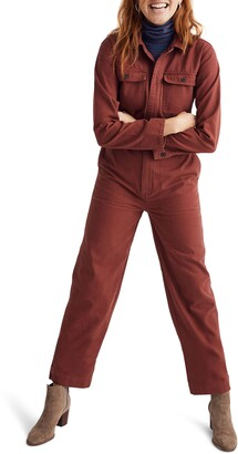 Madewell Straight Leg Coverall Jumpsuit