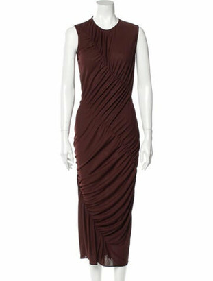 Narciso Rodriguez 2019 Knee-Length Dress Brown