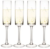 Cathy's Concepts Gold Dot Monogram Champagne Flutes