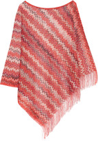 Missoni Fringed crochet-knit poncho