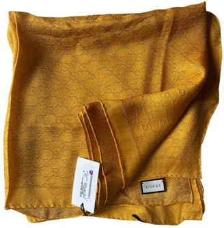 Gucci Yellow Silk Scarves