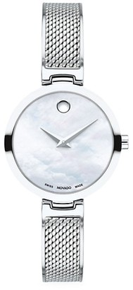 Movado Amika Stainless Steel Mesh Bangle Watch