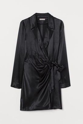 H&M Satin Jacket Dress - Black
