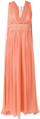 Alberta Ferretti Draped Empire Line Dress
