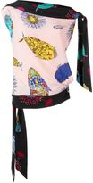 Emilio Pucci asymmetric printed one shoulder top - women - Silk - 40