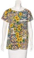 Dolce & Gabbana Sicilian Print Short Sleeve Top w/ Tags