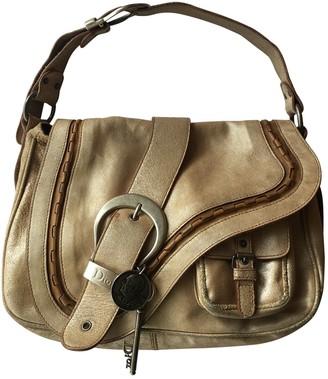 Christian Dior Gaucho Gold Leather Handbags