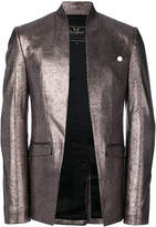 Unconditional foiled effect cutaway jacket