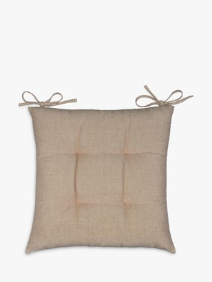 John Lewis & Partners Chambray Cotton Seat Pad