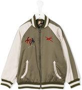 Stella McCartney embroidered bomber jacket - kids - Cotton/Polyester/Viscose - 2 yrs
