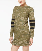 Fire Juniors' Camo-Print Sweatshirt Dress