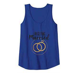 Womens Bride Bachelorette Party Gift I'm Getting Married Tank Top