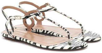 Aquazzura Almost Bare printed snakeskin sandals