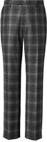 Banana Republic Slim Gray Plaid Italian Wool Flannel Suit Trouser