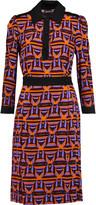 Just Cavalli Pleated printed crepe dress