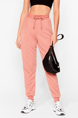 Nasty Gal Womens Don't Run Your Mouth High-Waisted Joggers - Dusty Rose