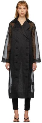 Totême Black Organza Pisa Trench Coat