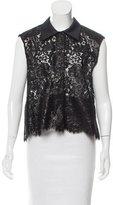 Balenciaga Sleeveless Coated Lace Top