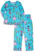 Sara's Prints Girls' Shopping Diva Pajama Set - Sizes 2-7
